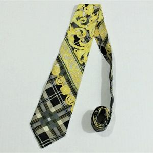Gianni Versace Couture Silk Seda Multicolor Tie